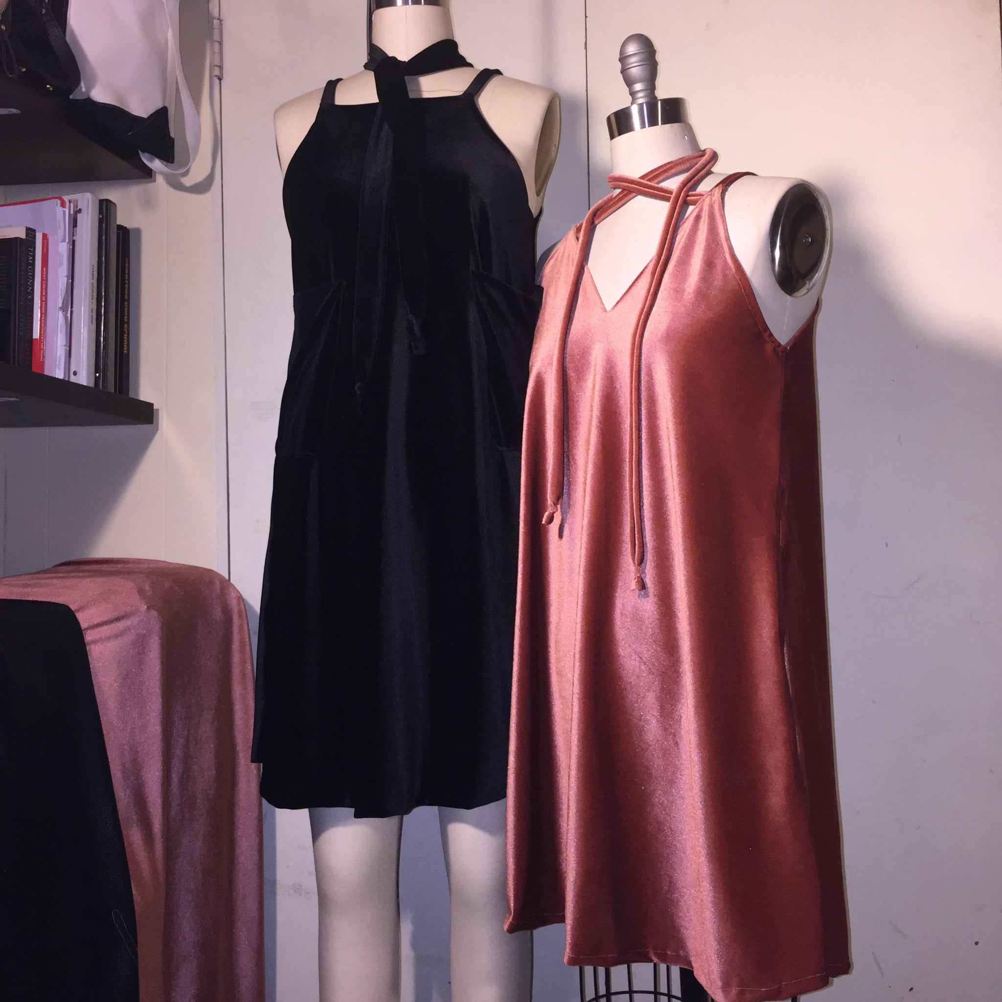 stretch Velvet slip over dress DIY fabric