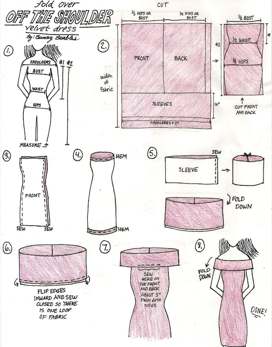 velvet dress tutorial