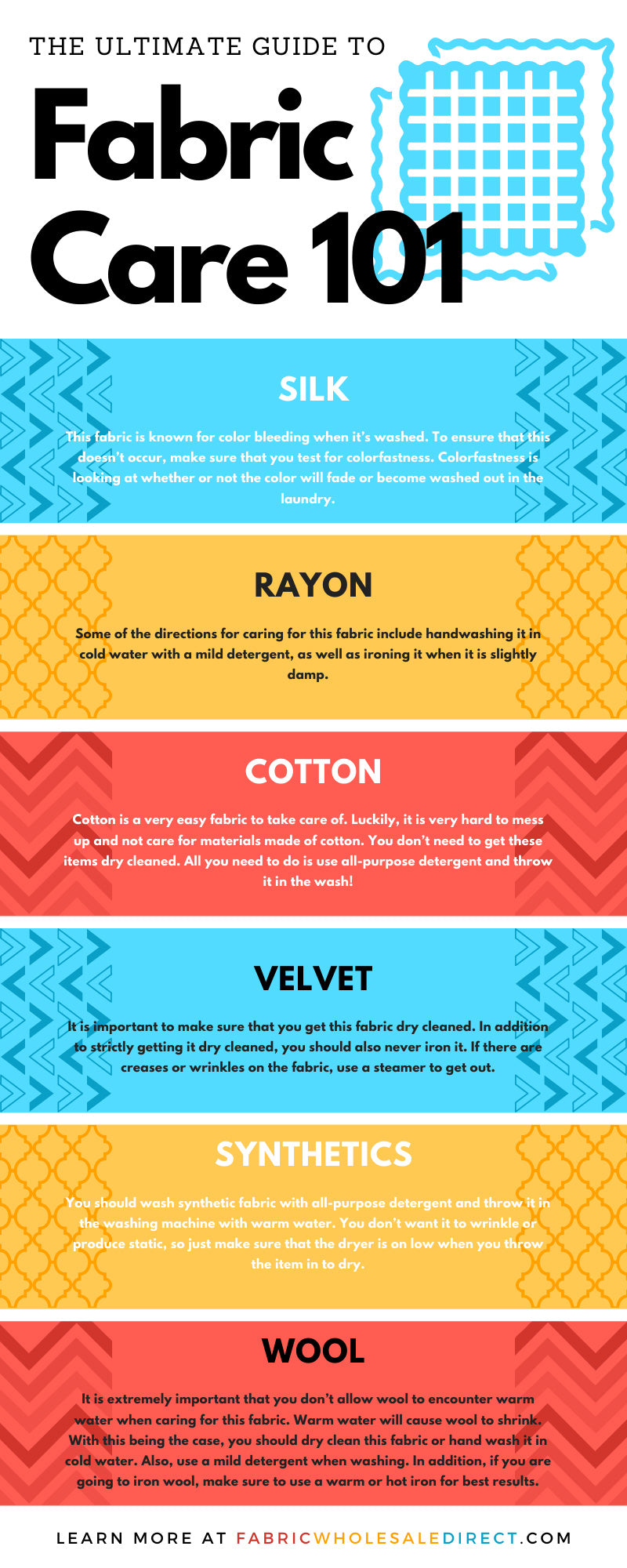The Ultimate Guide To Fabric Care 101