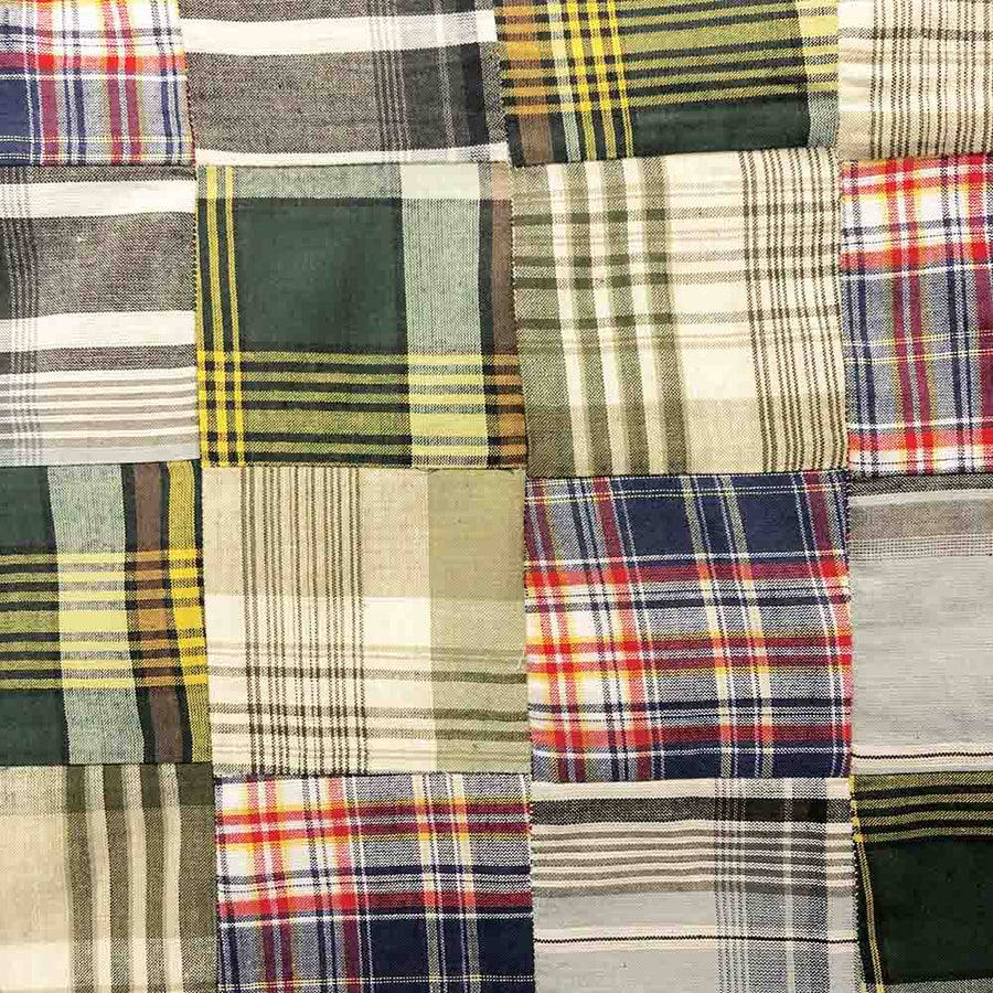Madras Patchwork Plaid Fabric (Style 1587)