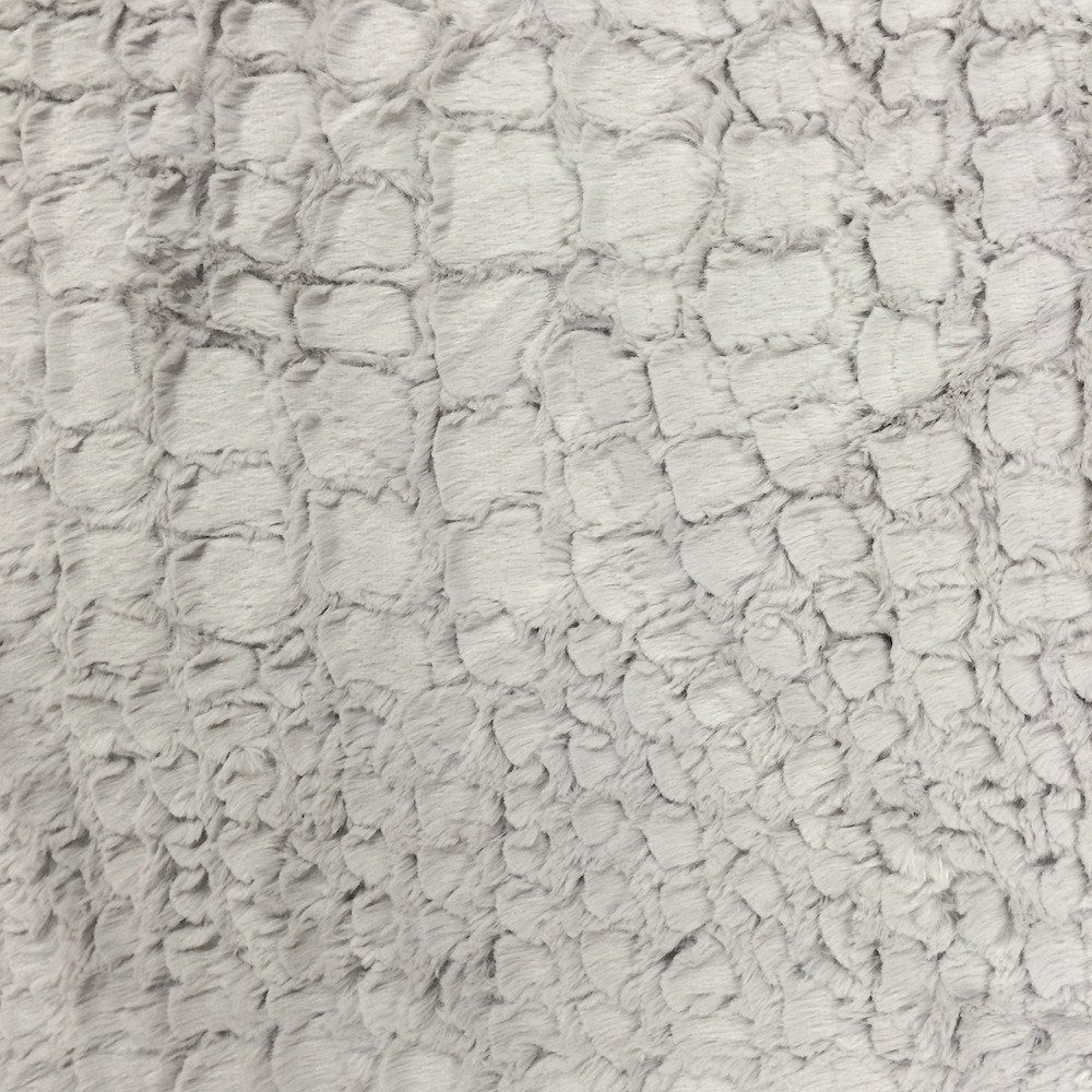 White /& Gray Faux Fur Fabric By The Yard 60 Width