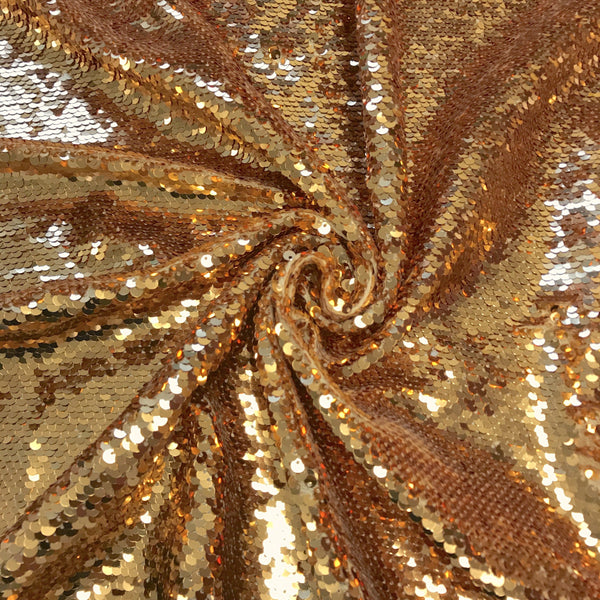 All-Over Sequins Mermaid Scale on Stretch Mesh Fabric
