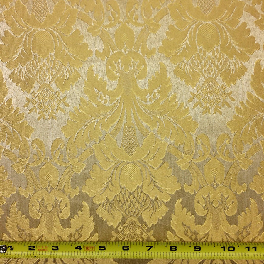 Gold & Gold Jacquard Fabric