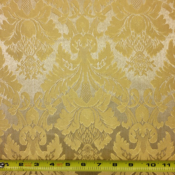 Gold Amp Gold Jacquard Damask Print Fabric 118 Quot Wide 10 99