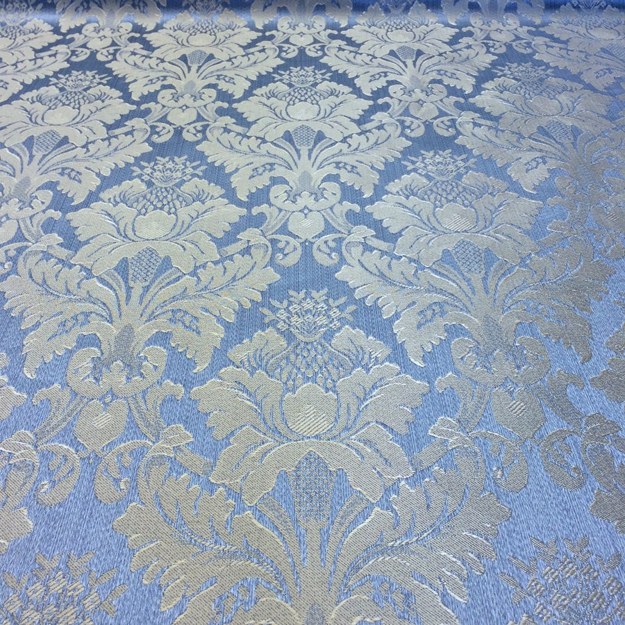 Baby Blue Jacquard Fabric