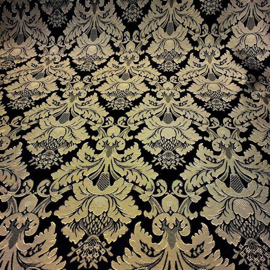 Black & Gold Jacquard Fabric