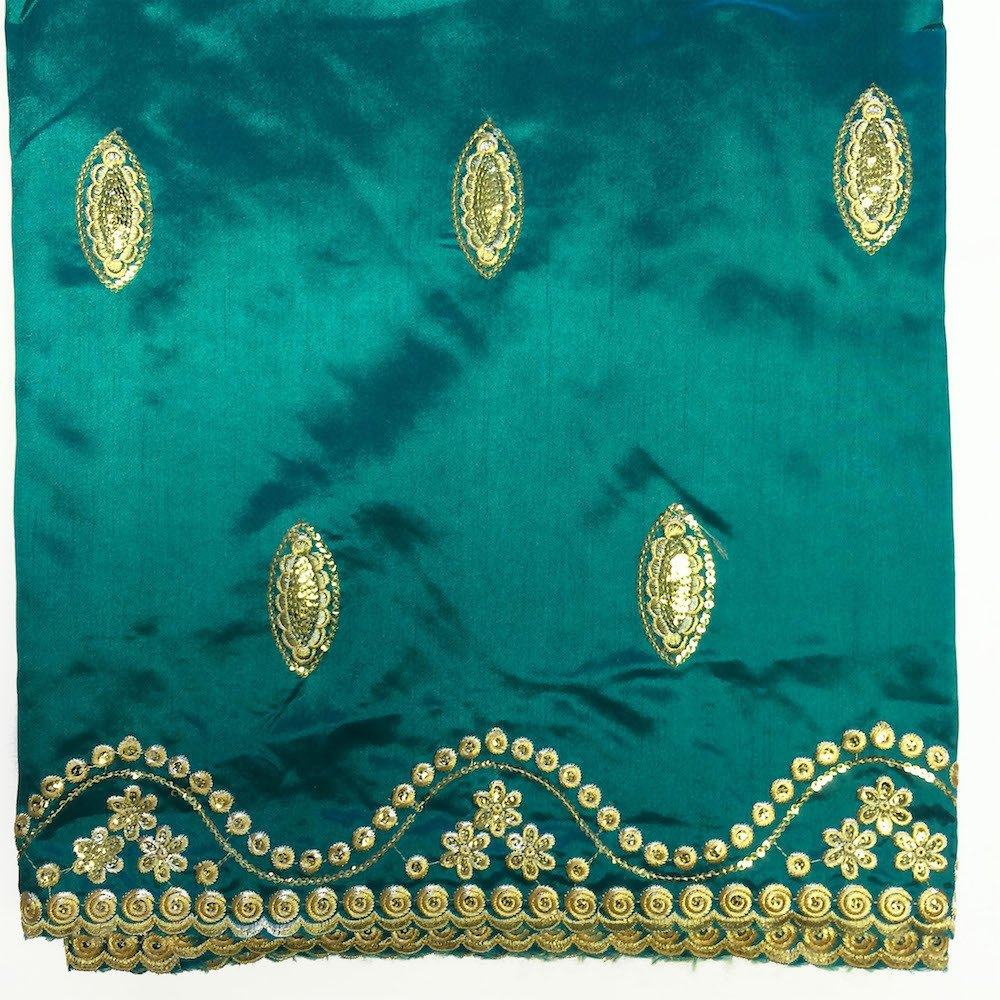 Imperial African George Taffeta - Teal Fabric