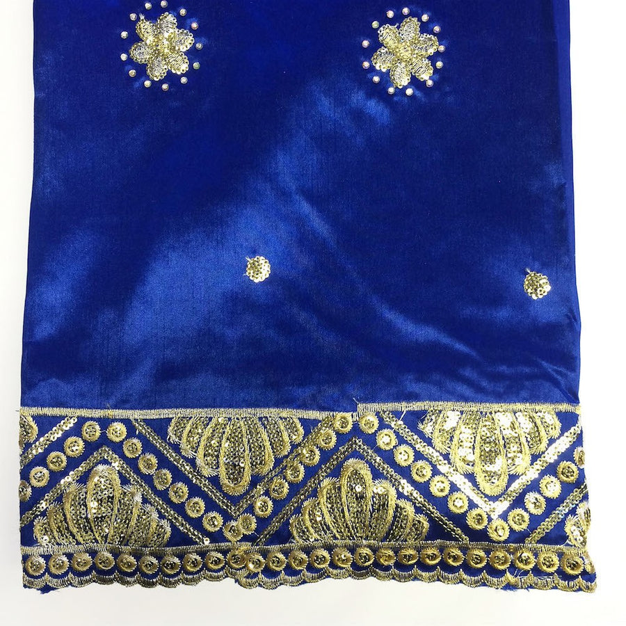 Grandiose African George Taffeta - Royal Blue Fabric