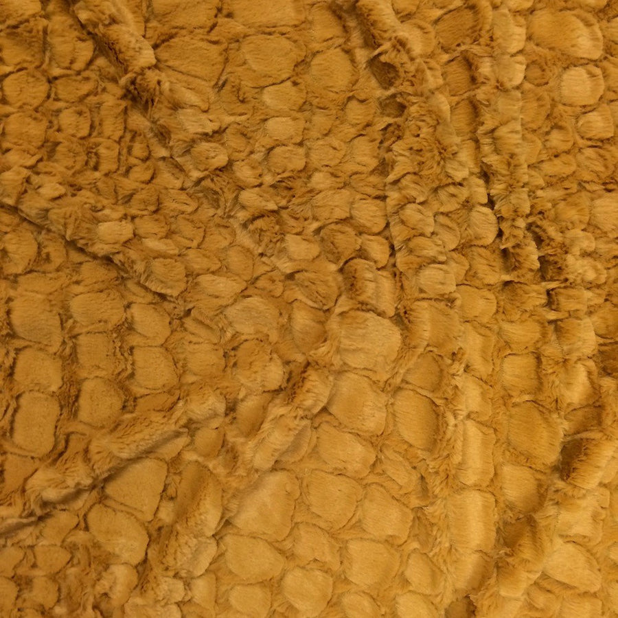 Reptile Gold Faux Fur