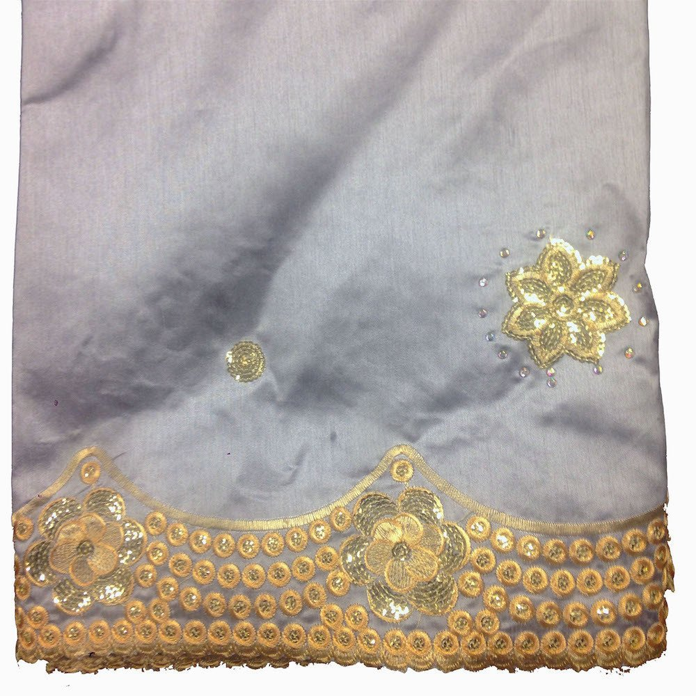 Noble African George Taffeta Studded - Grey Fabric