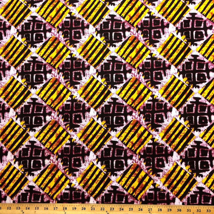 Checked African Print (90109-2) Fabric