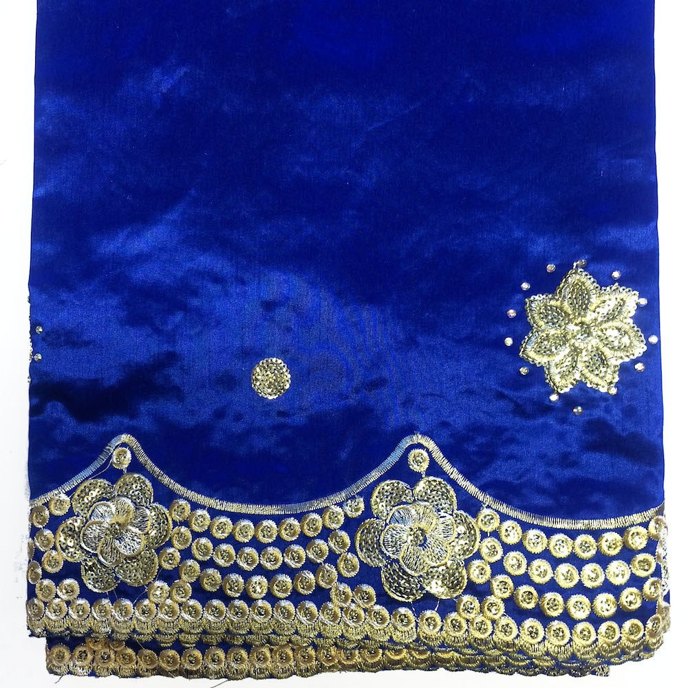 Noble African George Taffeta Studded - Royal Blue Fabric