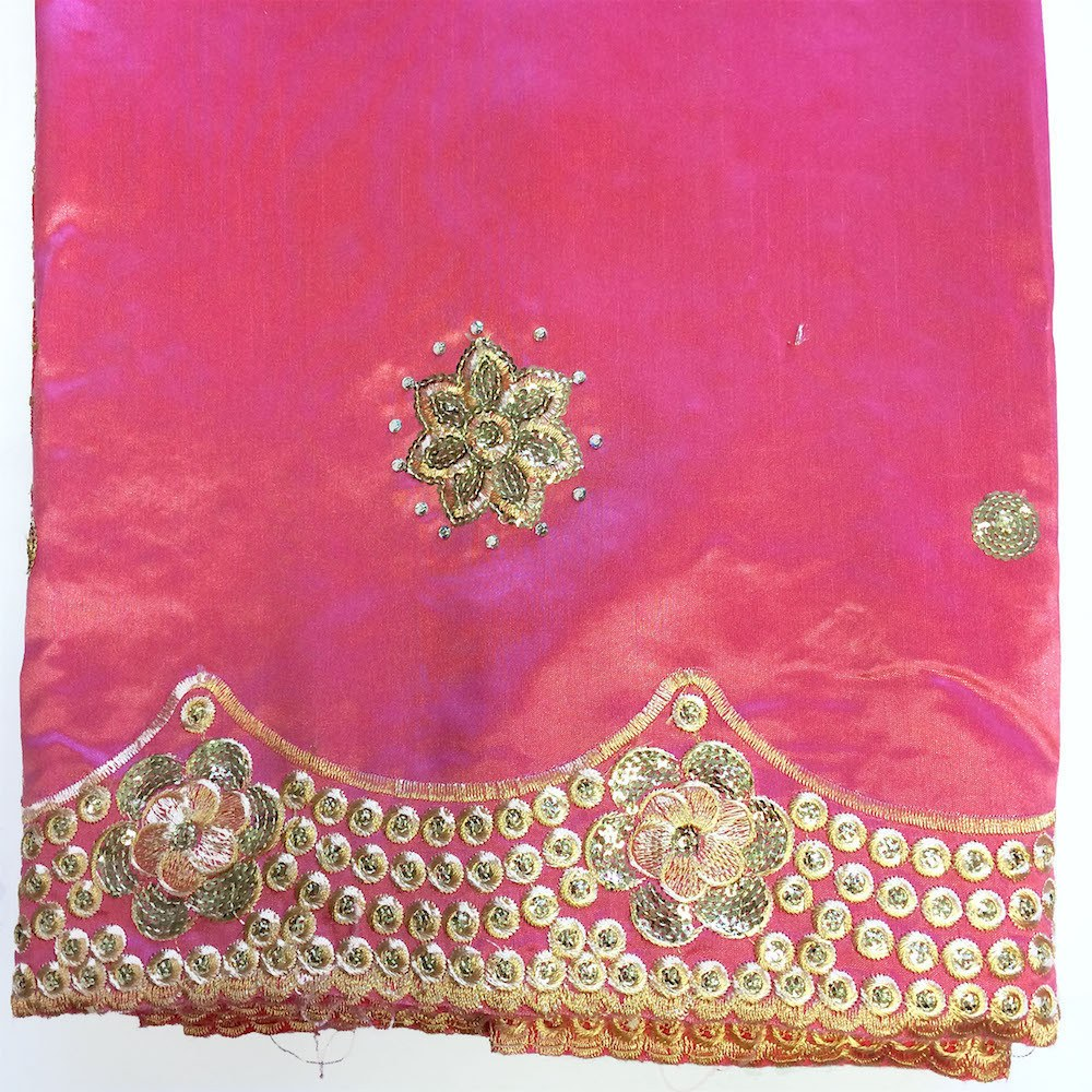Noble African George Taffeta Studded - Pink Fabric