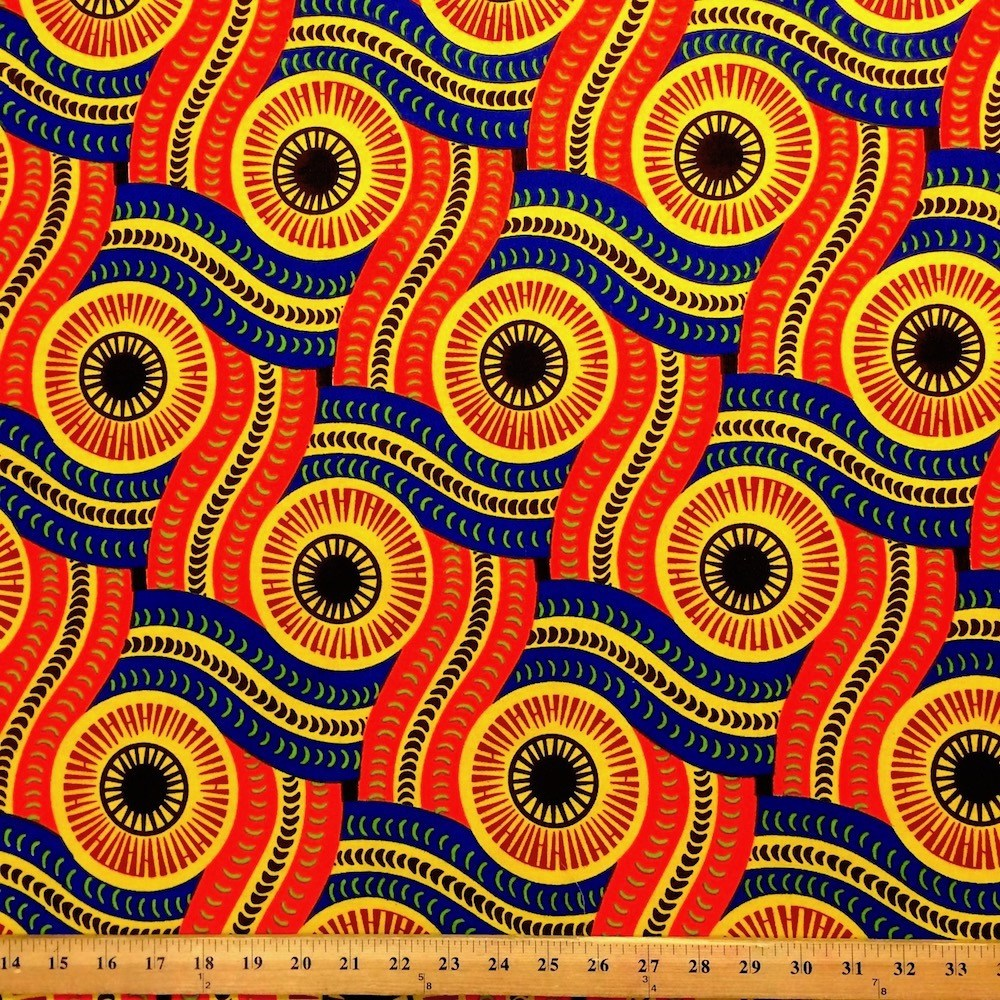 African print fabrics 100 cotton 44 45 wide fabric for Patterned material fabric