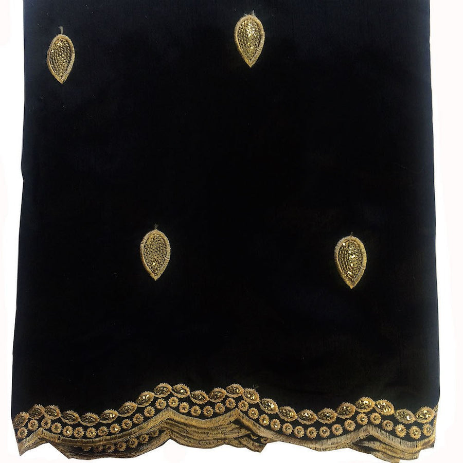 Regal African George Taffeta - Black