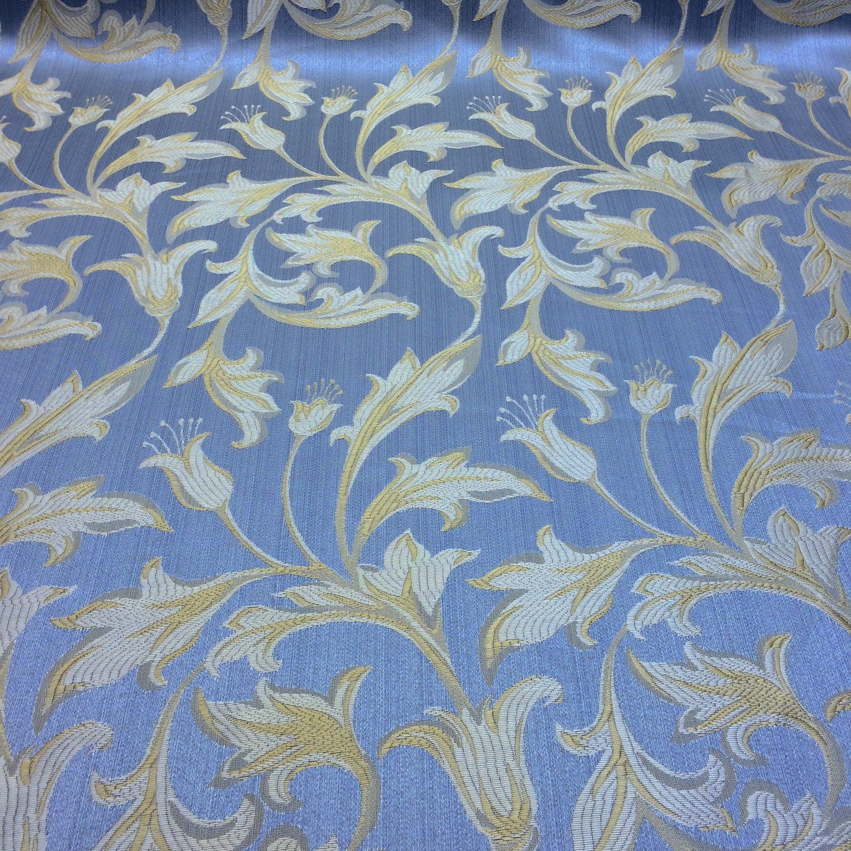 Jacquard damask print fabric baby blue for curtains and for Cheap baby fabric