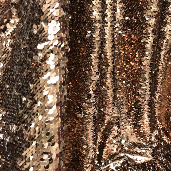 All-Over Sequins Fabric Mermaid Scale on Stretch Mesh 5860 wide Sold BTY Purple