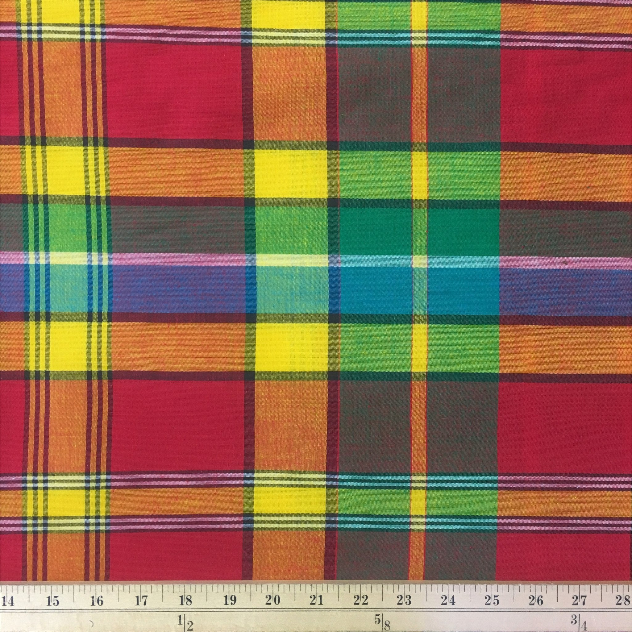 madras Madras Plaid Fabric (Style 501) 100% Cotton 44/45