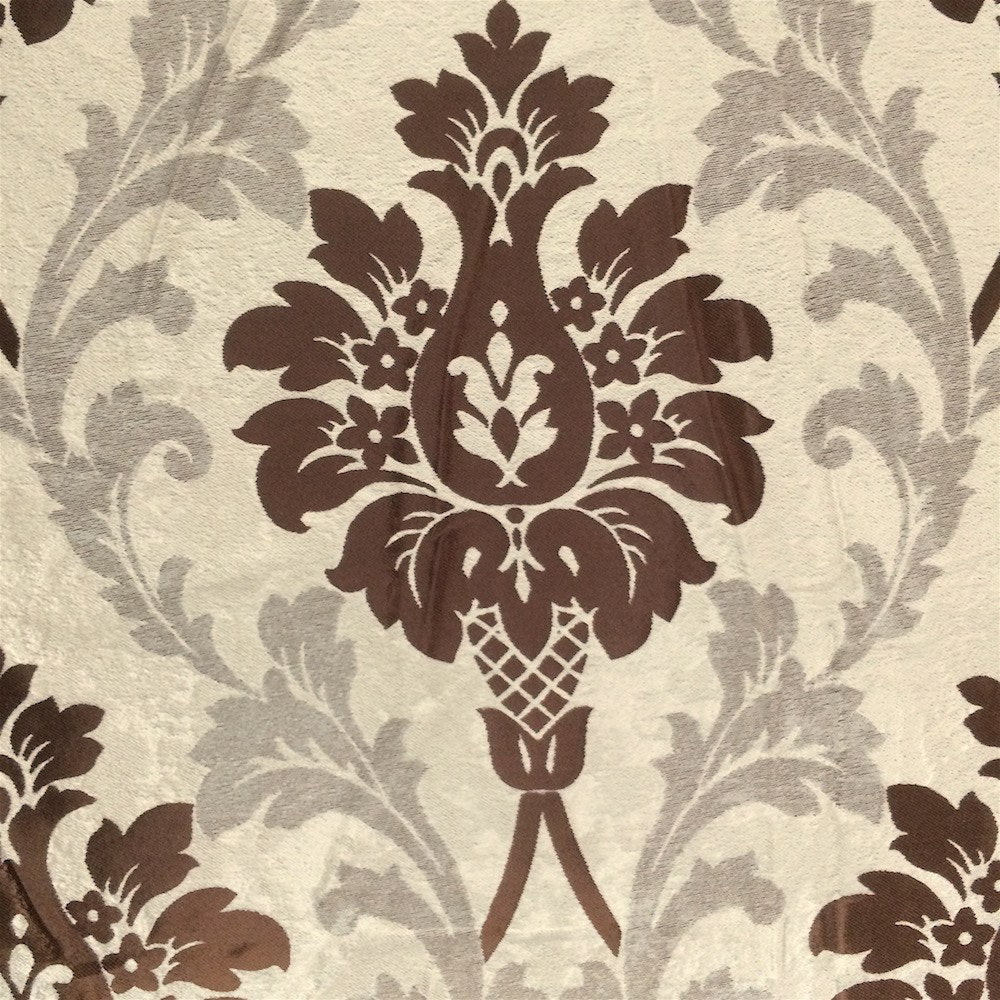 Brown Velvet Jacquard (902-2) Fabric