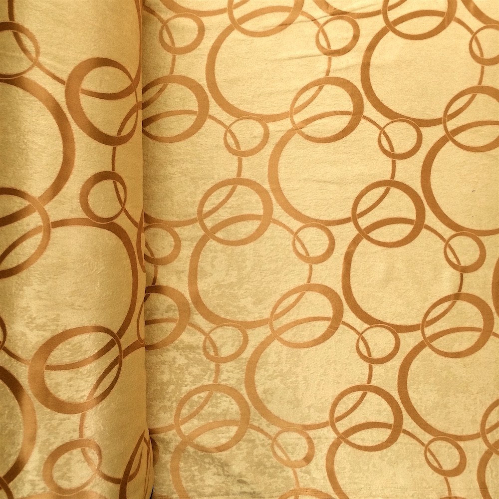 Gold Velvet Jacquard (905-3) Fabric