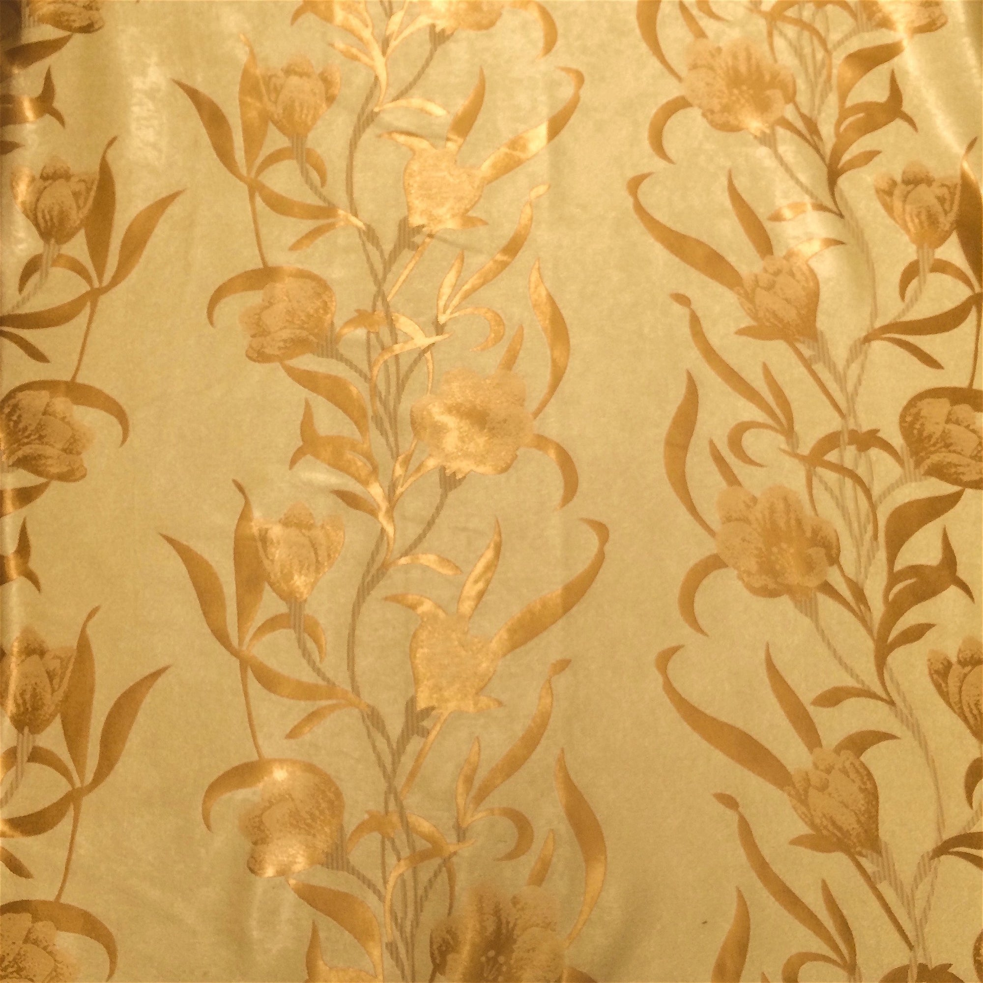 Gold Velvet Jacquard (908-3) Fabric