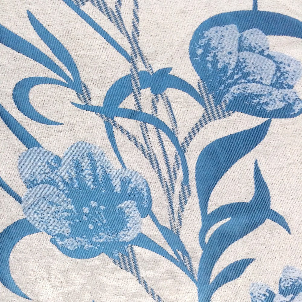 Blue Velvet Jacquard (908-8) Fabric