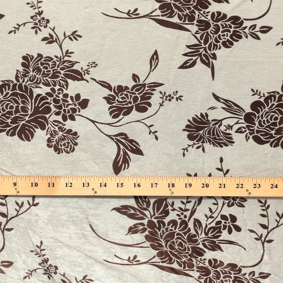 Brown Velvet Jacquard (910-2) Fabric