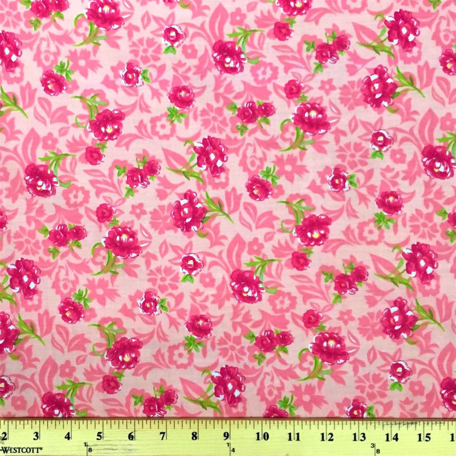 Anna Pink Print Broadcloth Fabric