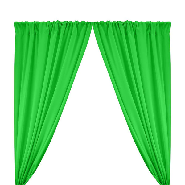 "Poplin (60"") Rod Pocket Curtains - Apple Green"