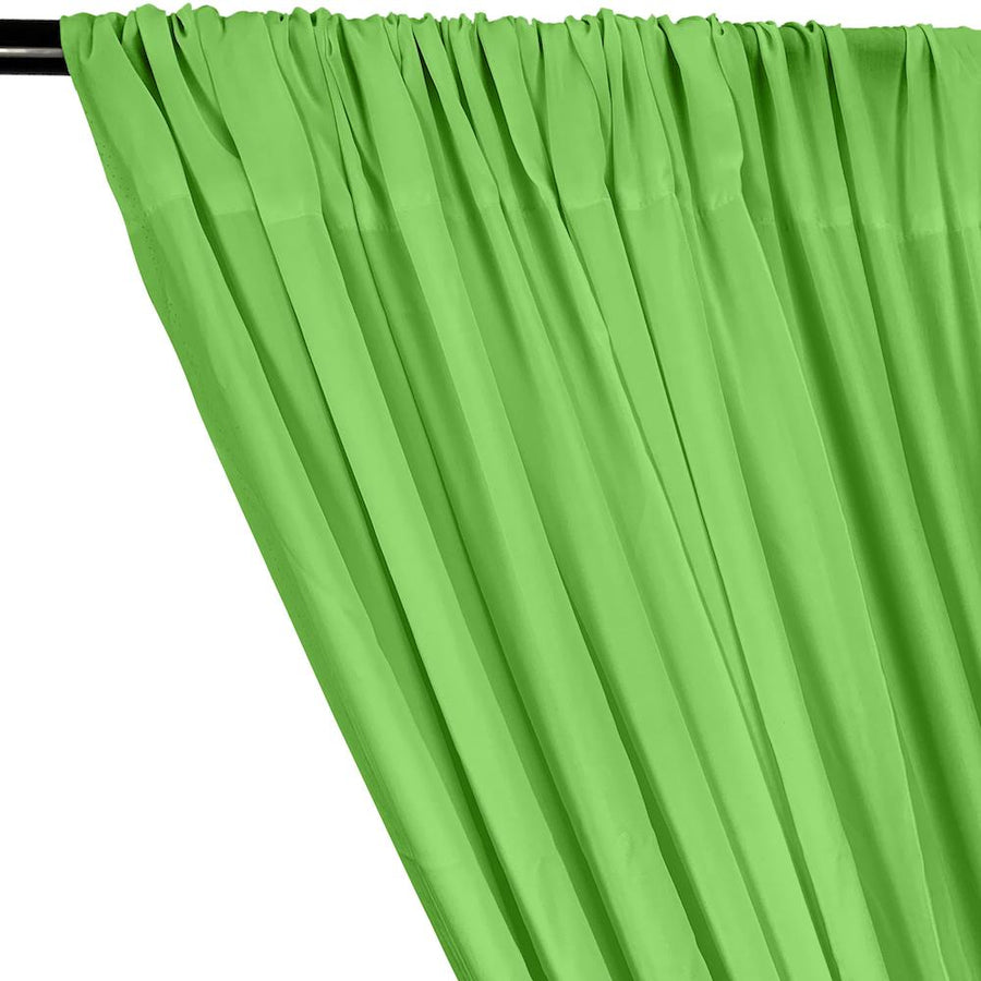 Rayon Challis Rod Pocket Curtains - Apple Green