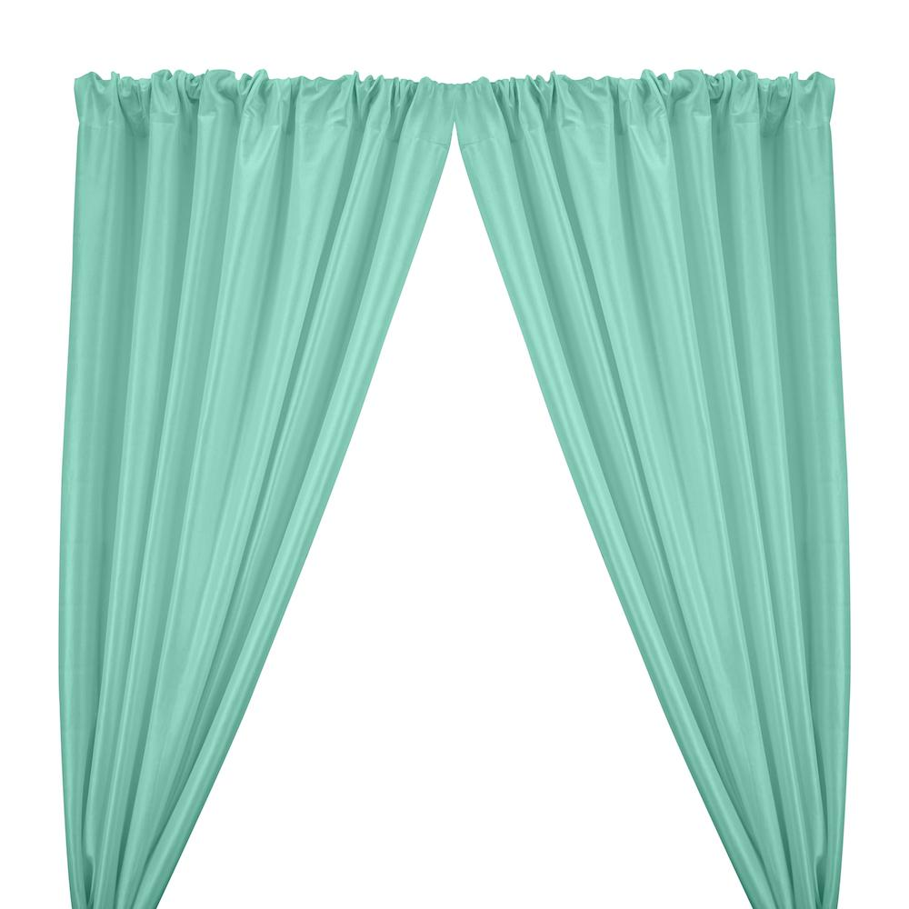 Stretch Taffeta Rod Pocket Curtains - Aqua Blue