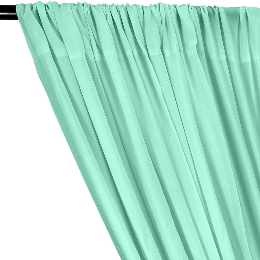 Rayon Challis Rod Pocket Curtains - Aqua