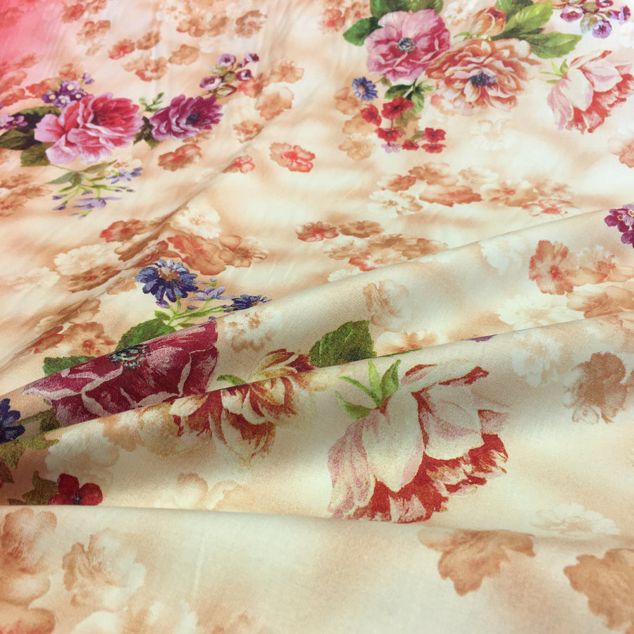 Arianna Red Printed Cotton Fabric