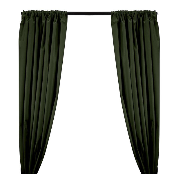 Ottertex® Canvas Waterproof Rod Pocket Curtains - Army Green