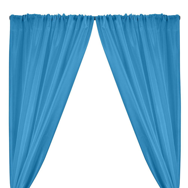 Polyester Dupioni Rod Pocket Curtains - Baby Blue 160
