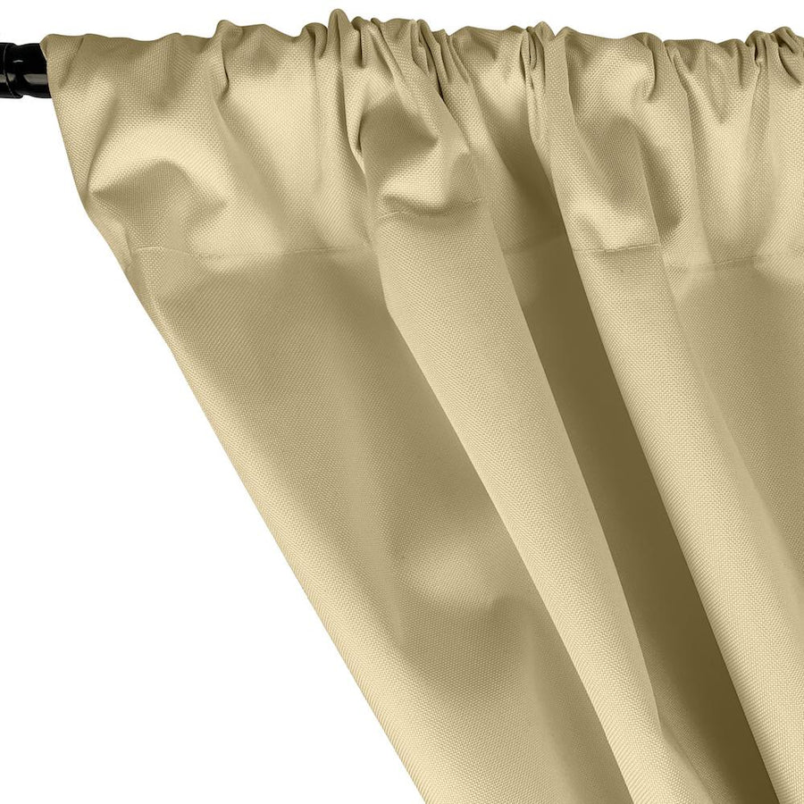 Ottertex® Canvas Waterproof Rod Pocket Curtains - Beige