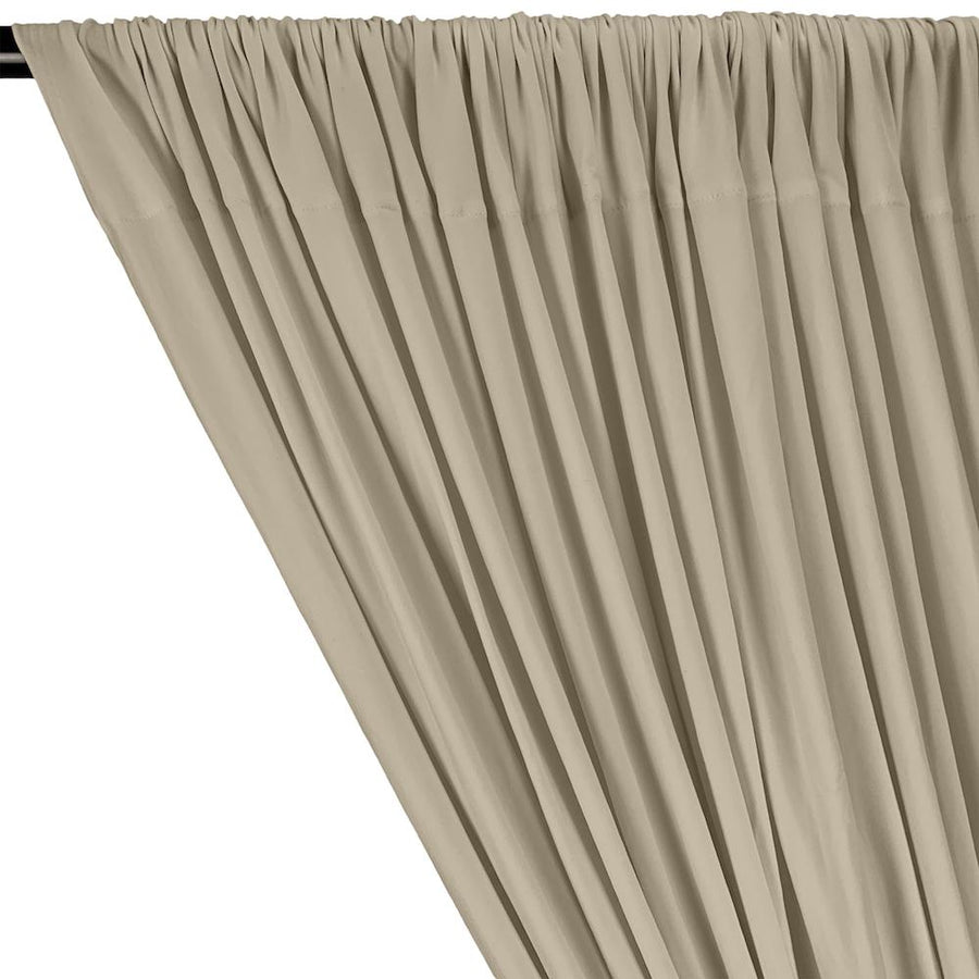 DTY Double-Sided Brushed Rod Pocket Curtains - Beige