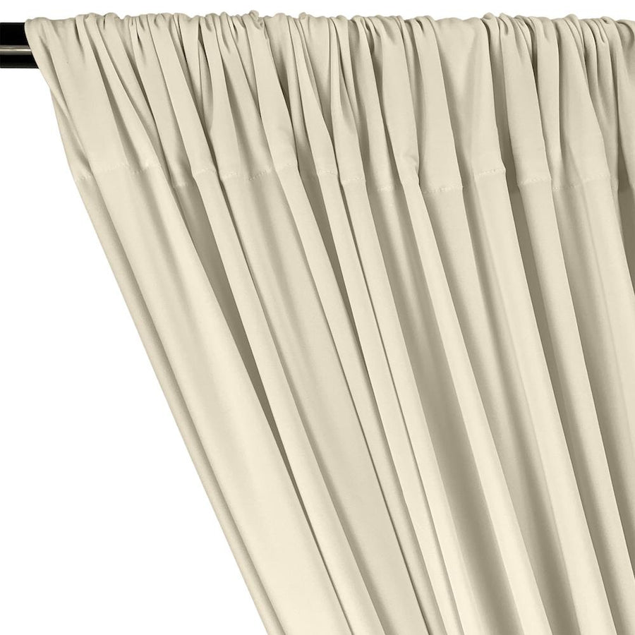 ITY Knit Stretch Jersey Rod Pocket Curtains - Beige