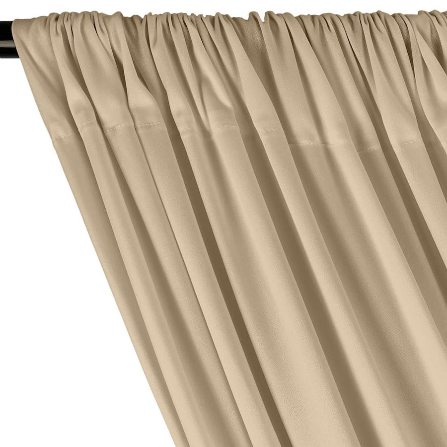 Interlock Knit Rod Pocket Curtains - Beige