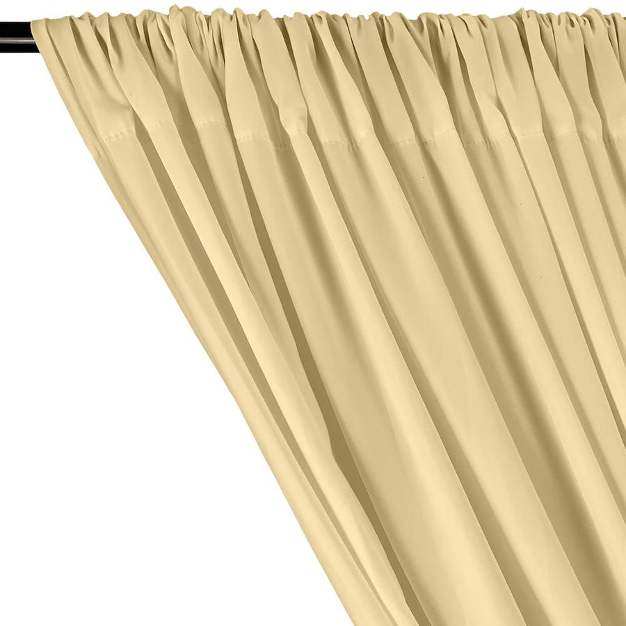 Peachskin Rod Pocket Curtains - Beige