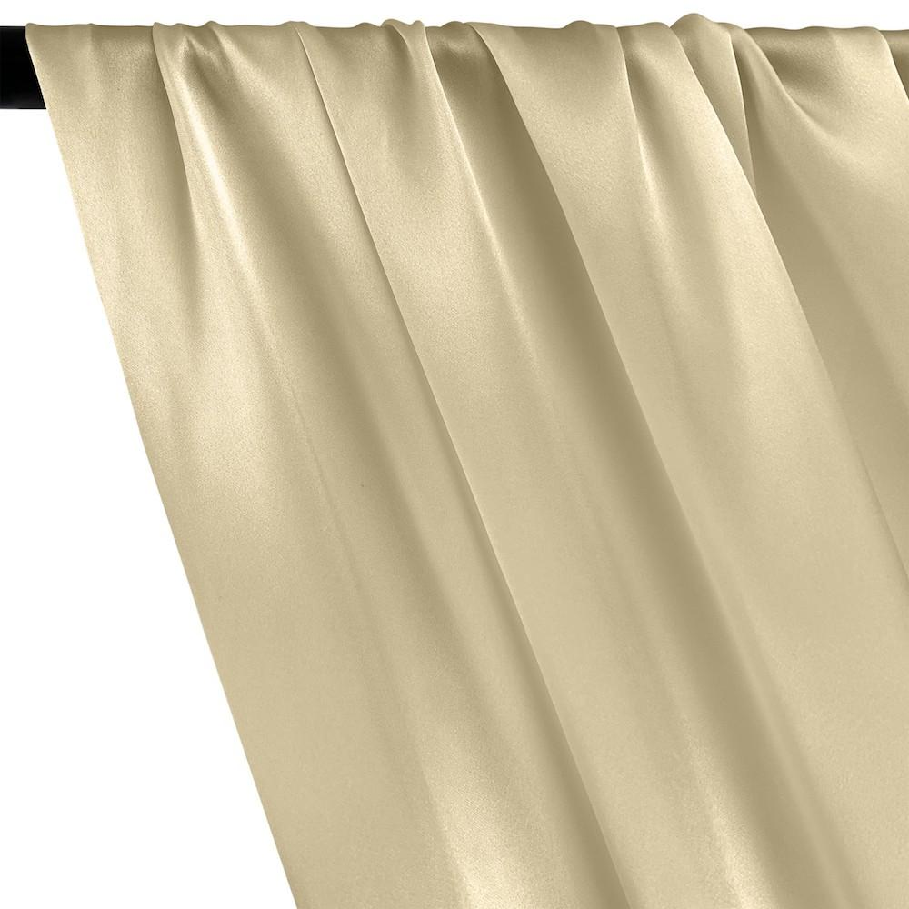 Silk Charmeuse Rod Pocket Curtains - Beige