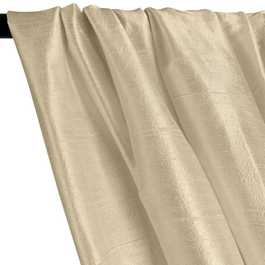"Silk Dupioni (54"") Rod Pocket Curtains - Beige"