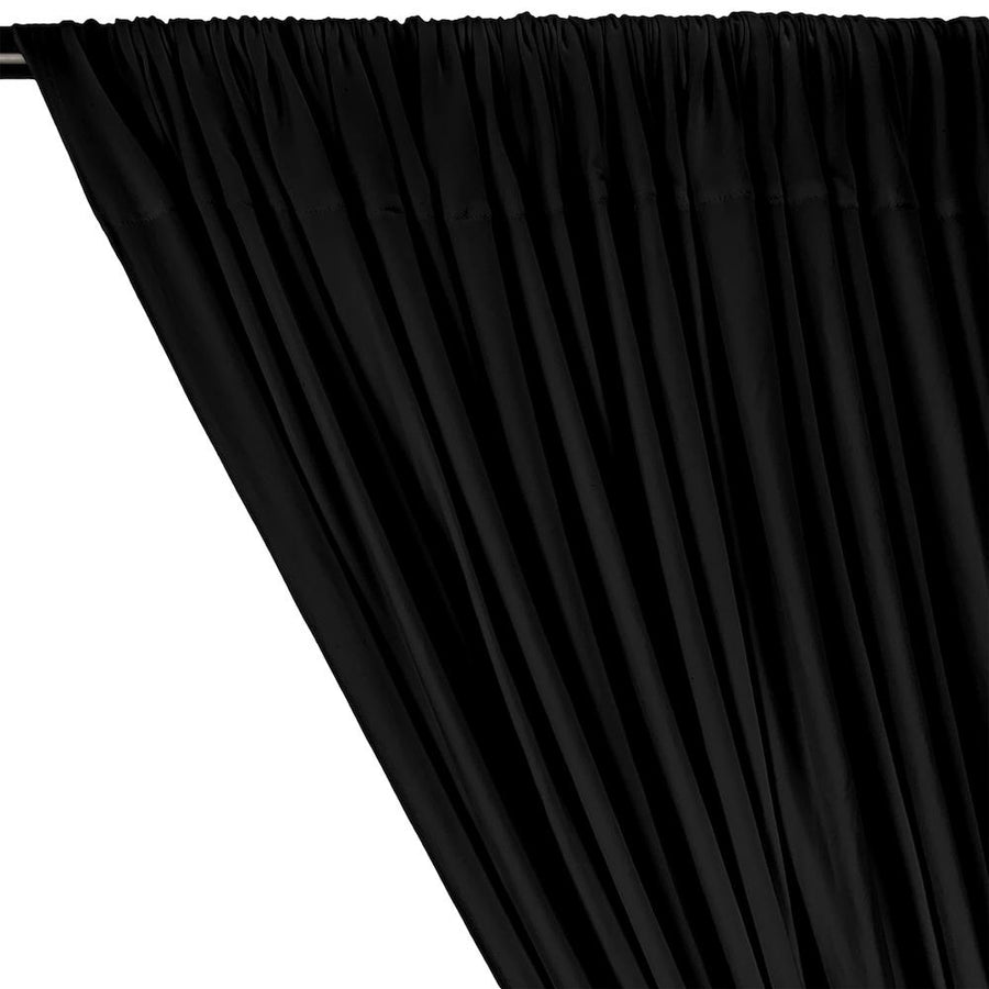 DTY Double-Sided Brushed Rod Pocket Curtains - Black