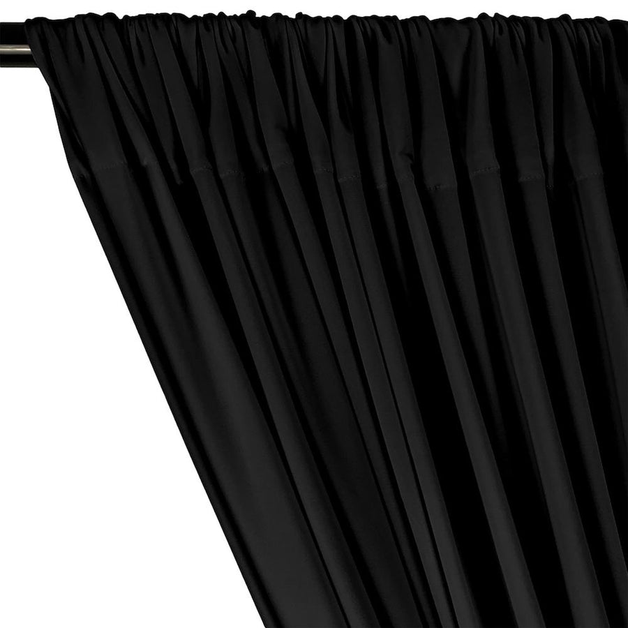 ITY Knit Stretch Jersey Rod Pocket Curtains - Black