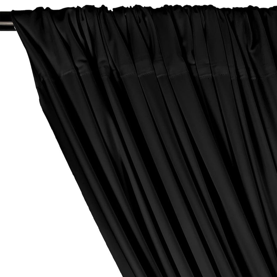 Matte Milliskin Rod Pocket Curtains - Black