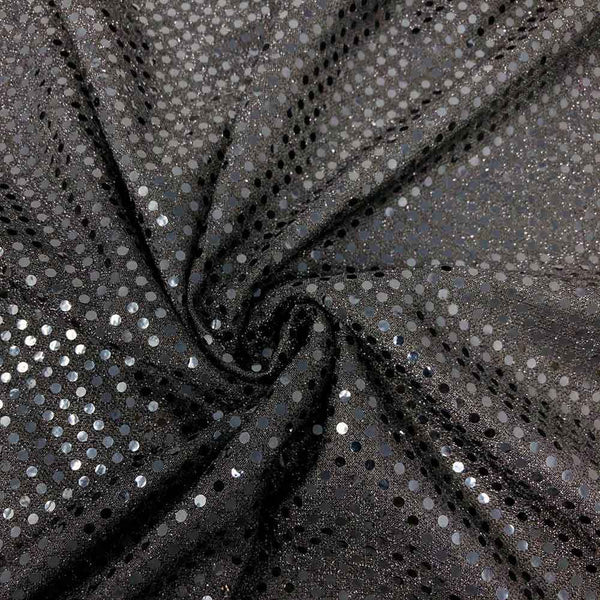 Shiny Two-Tone Trans Knit Sequins