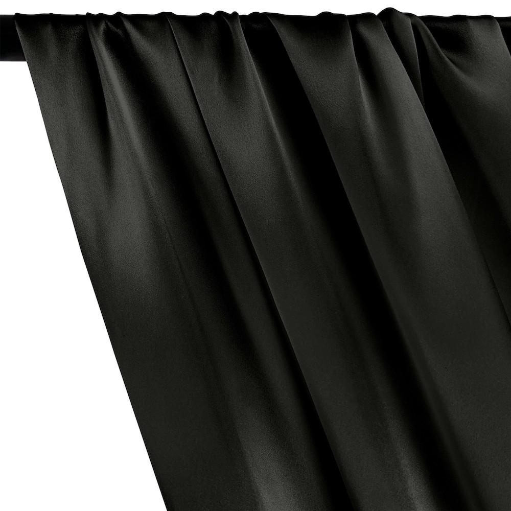 Silk Charmeuse Rod Pocket Curtains - Black