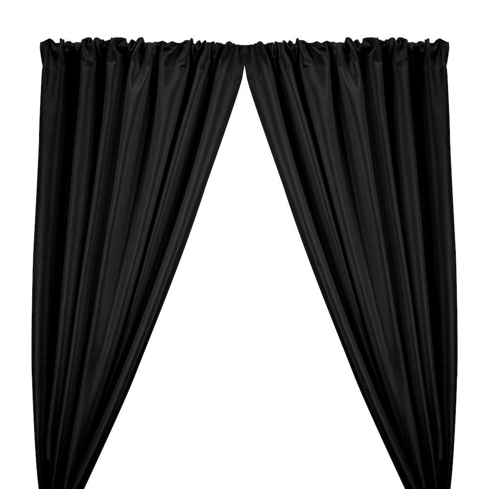 Stretch Taffeta Rod Pocket Curtains - Black