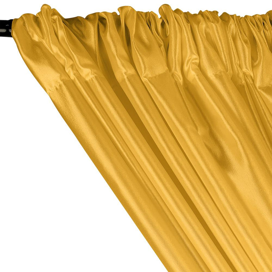 Extra Wide Nylon Taffeta Rod Pocket Curtains - Bright Yellow