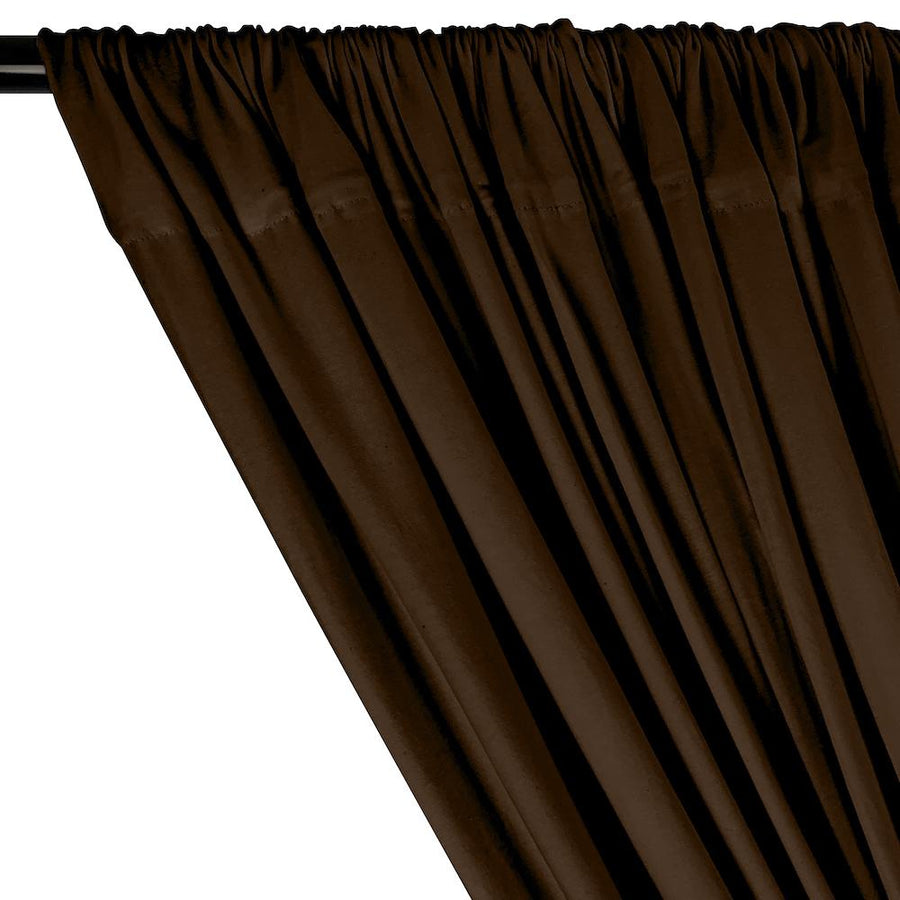 Cotton Jersey Rod Pocket Curtains - Brown